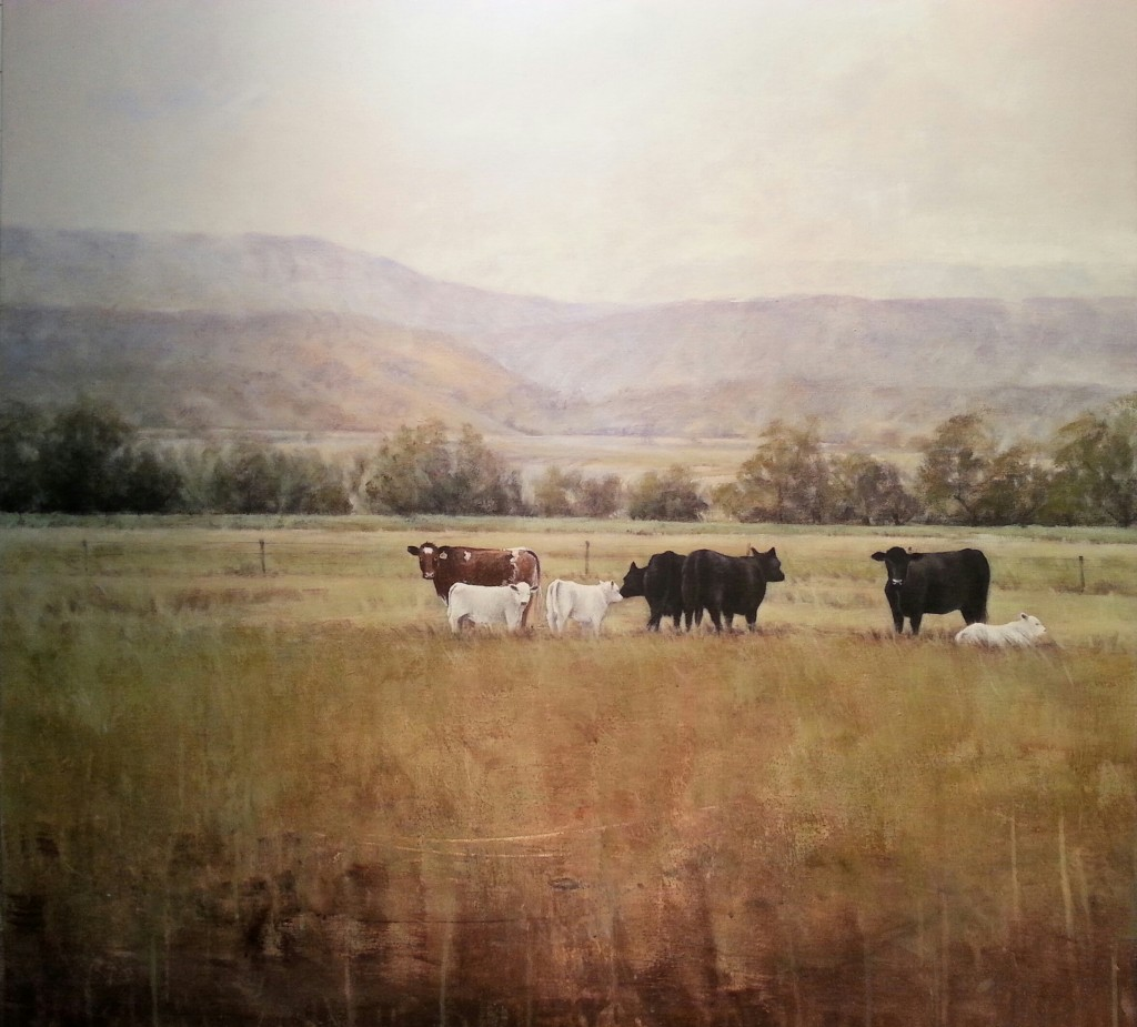Locked Gate, Bentley nsw, acrylic on canvas, 90x90cm