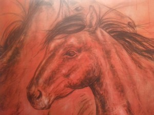 Horse Play, acrylic on canvas
