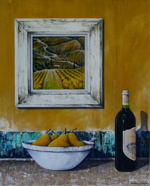Colours Of Chianti, acrylic on canvas, 65x45cm SOLD