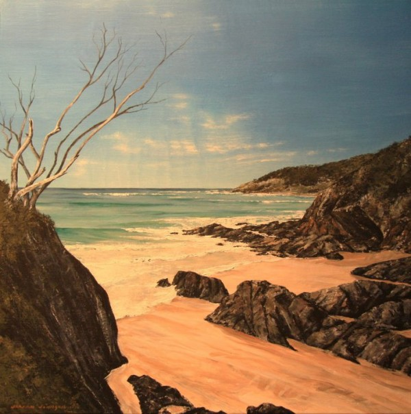 View Point, The Pass Byron Bay, acrylic on linen, 61x61cm