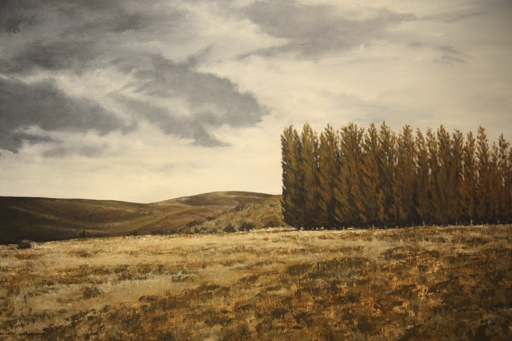 The Stand, Patagonia, acrylic on canvas, 65x90cm