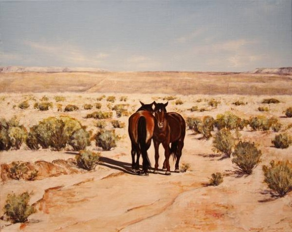 Arizona Ponies, acrylic on linen, 41x51cm SOLD